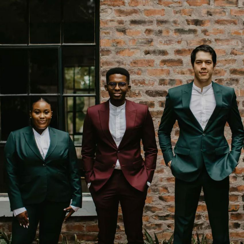 fall suits for groom and groomsmen