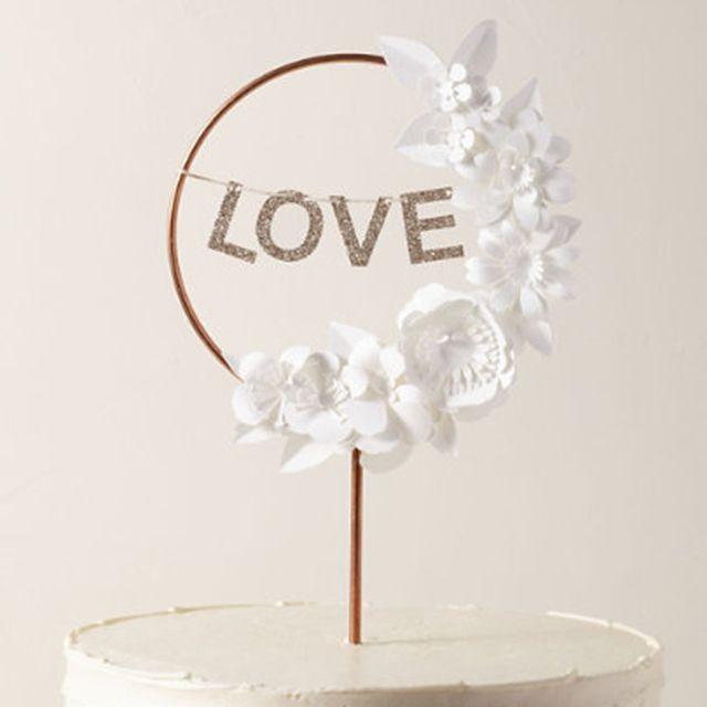 Love Wreath Cake Topper