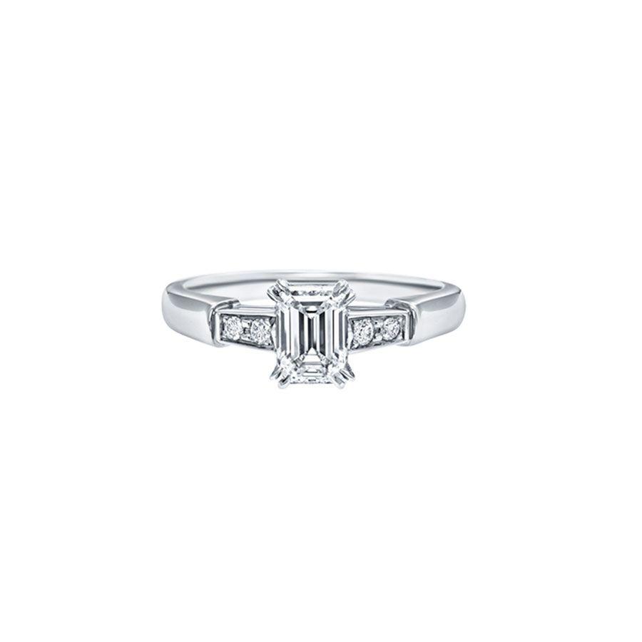 Harry Winston Emerald-Cut Diamond Engagement Ring