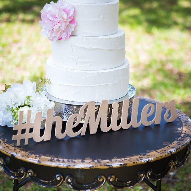 Etsy Wedding Hashtag Sign