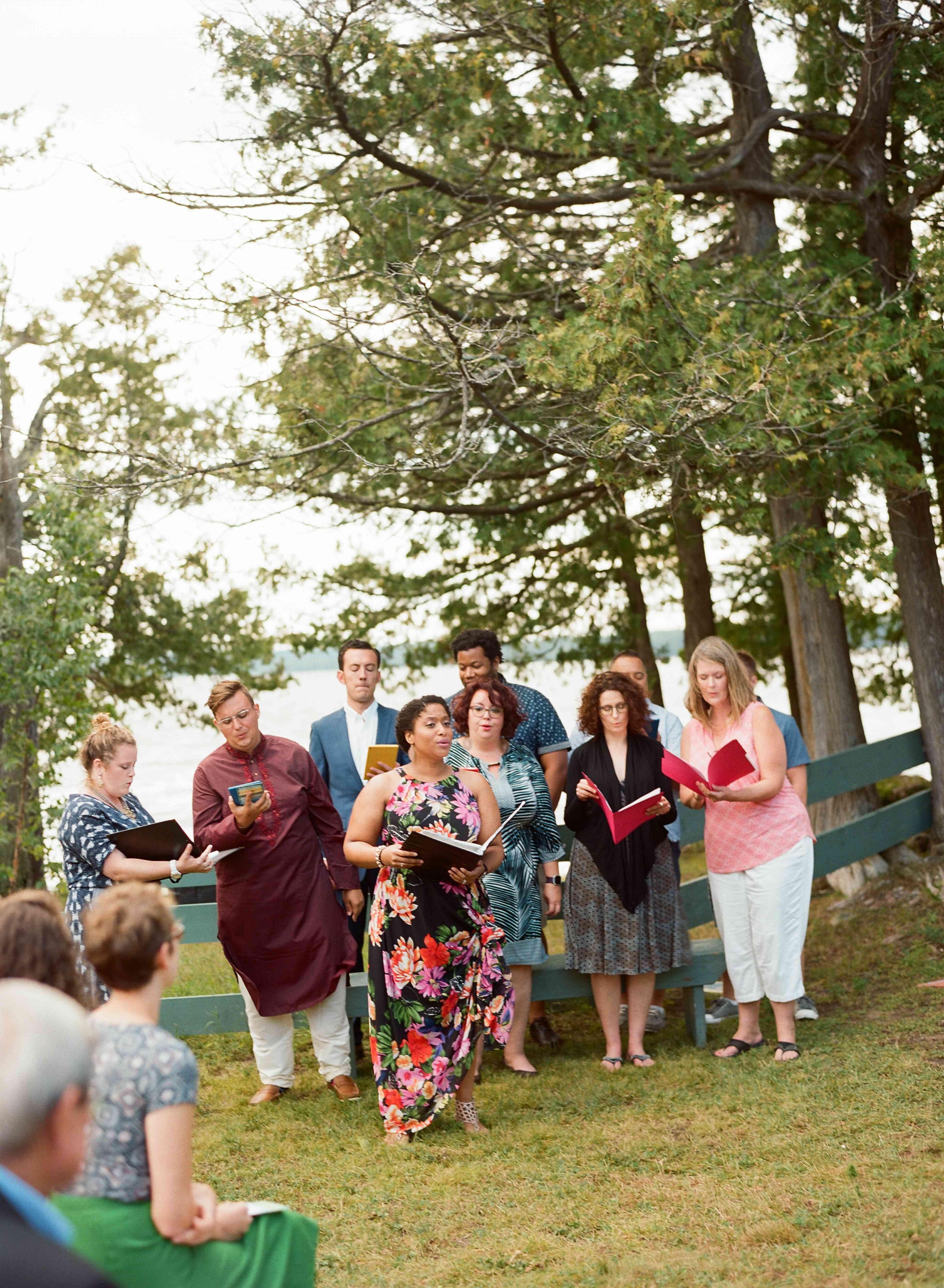 Choir at wedding