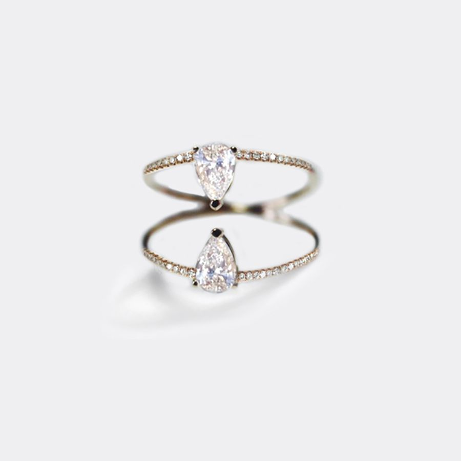 Kat Kim Pear Duo Diamond Ring