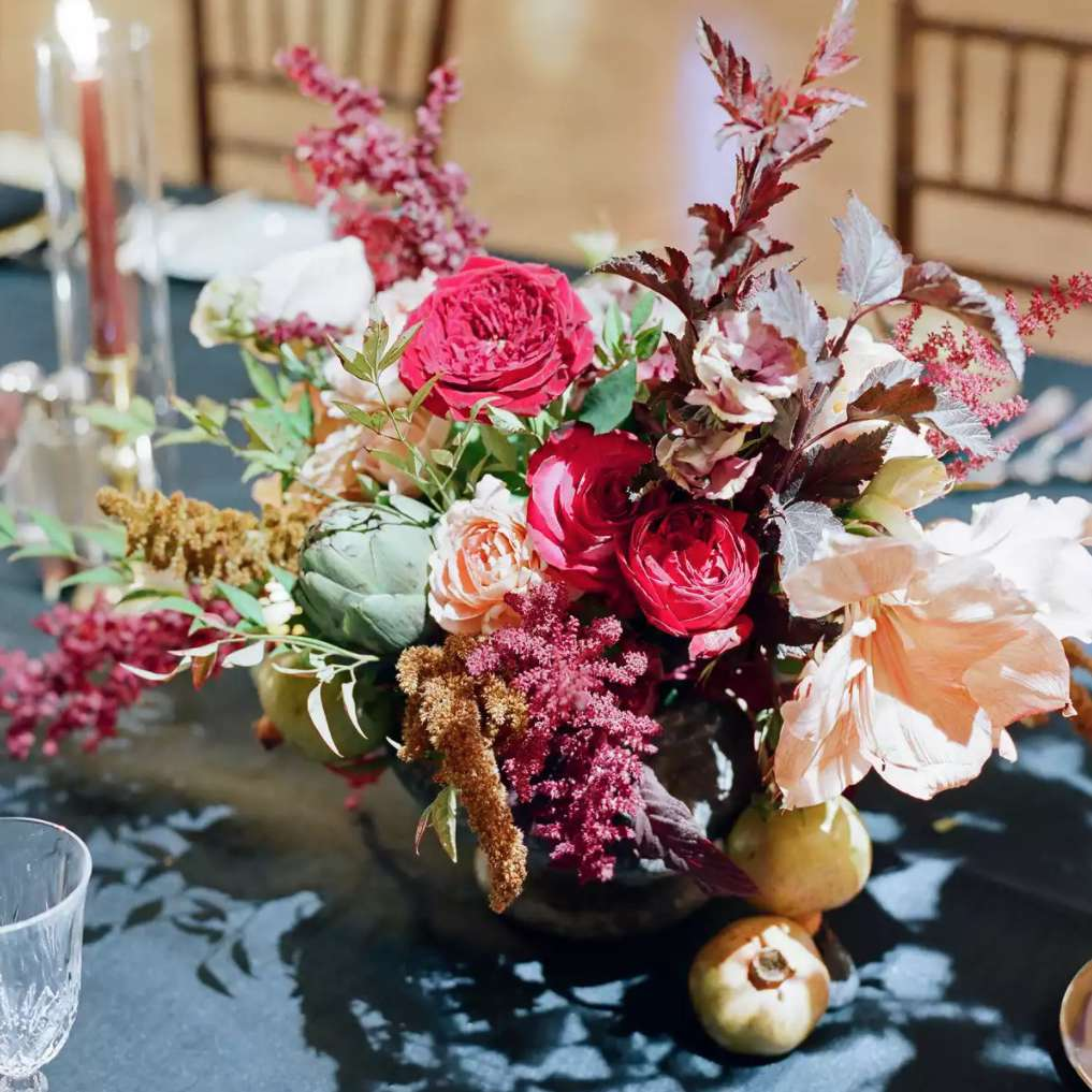 Textured floral arrangement