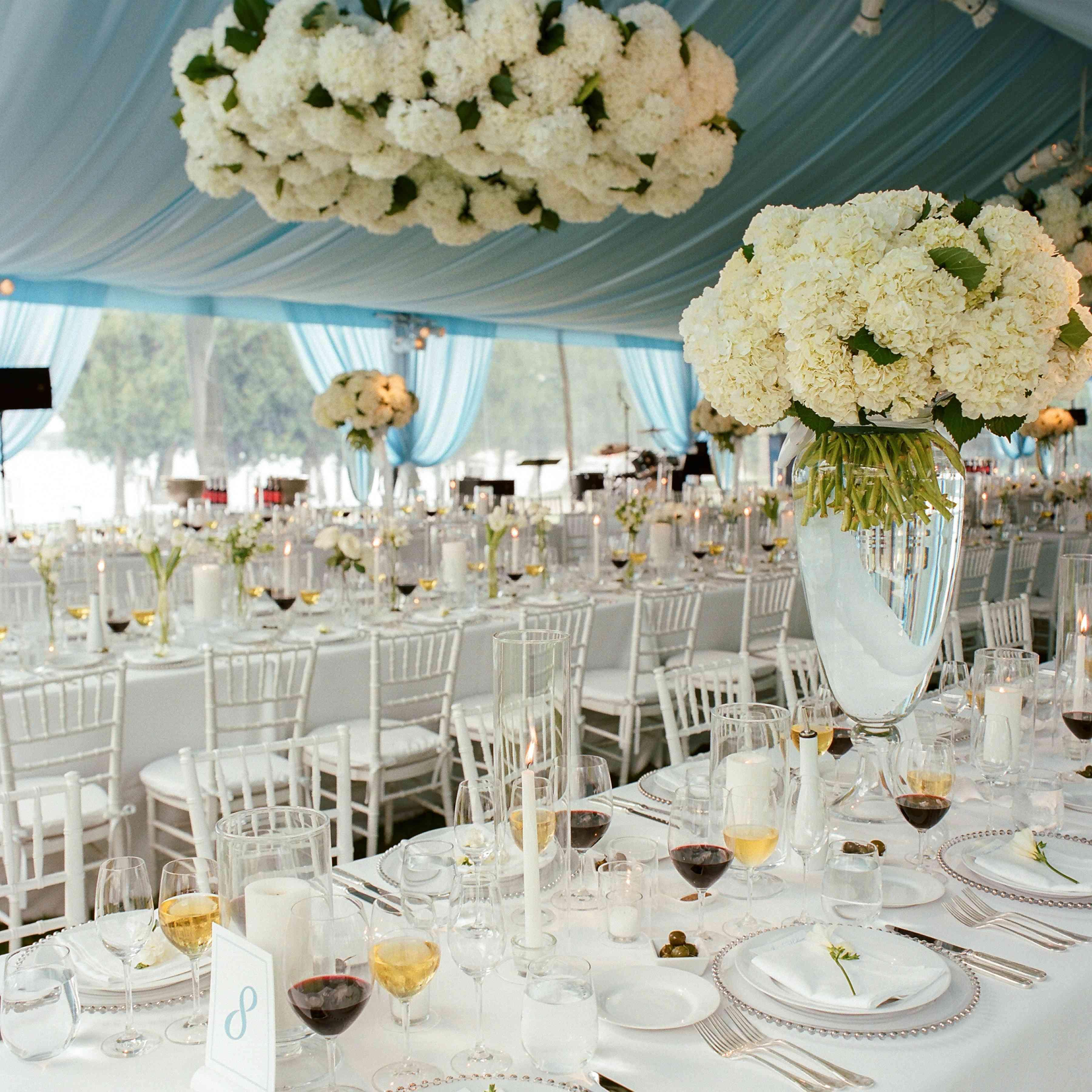 tent reception floral chandelier