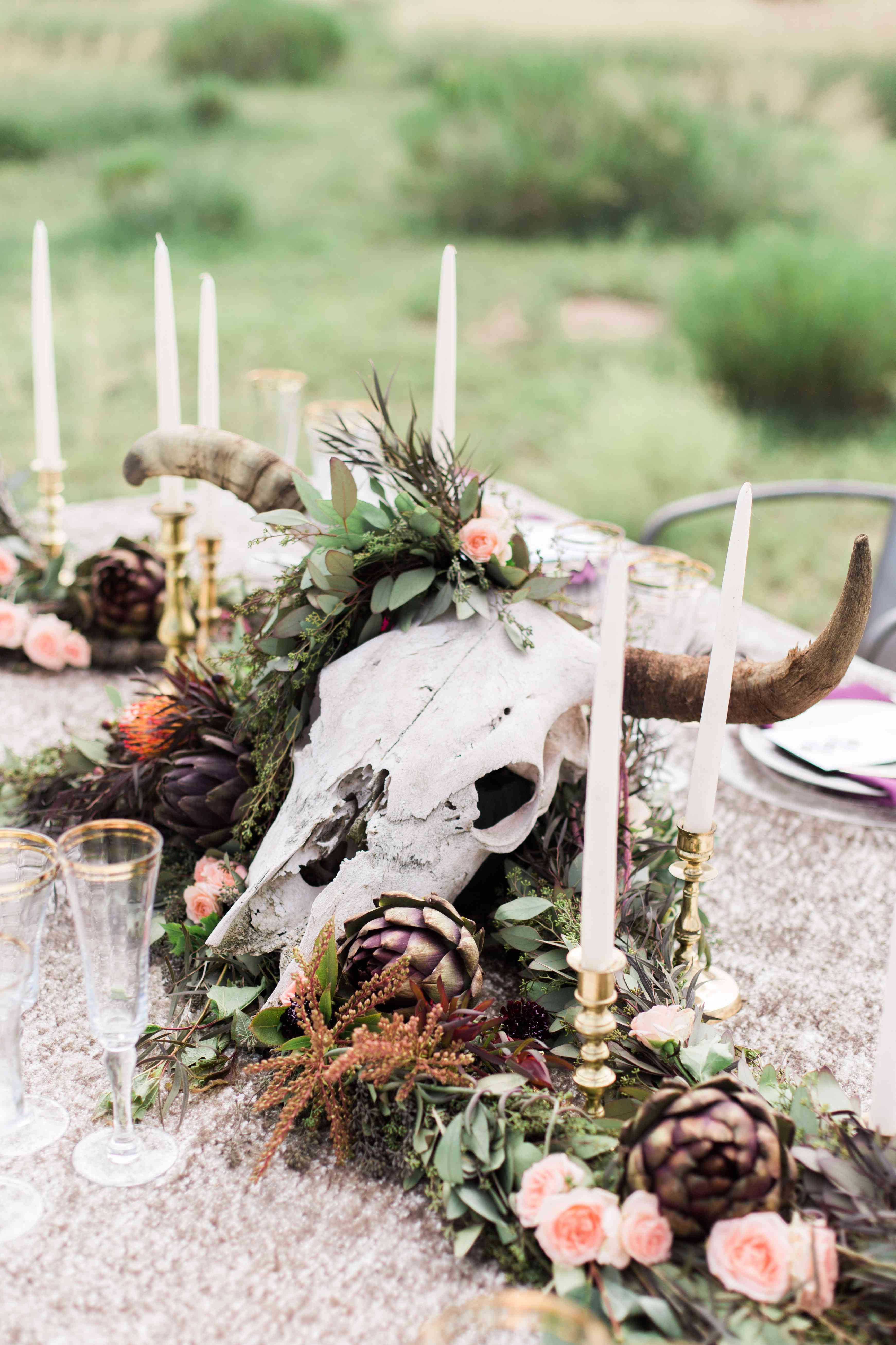 Longhorn Wedding Centerpiece