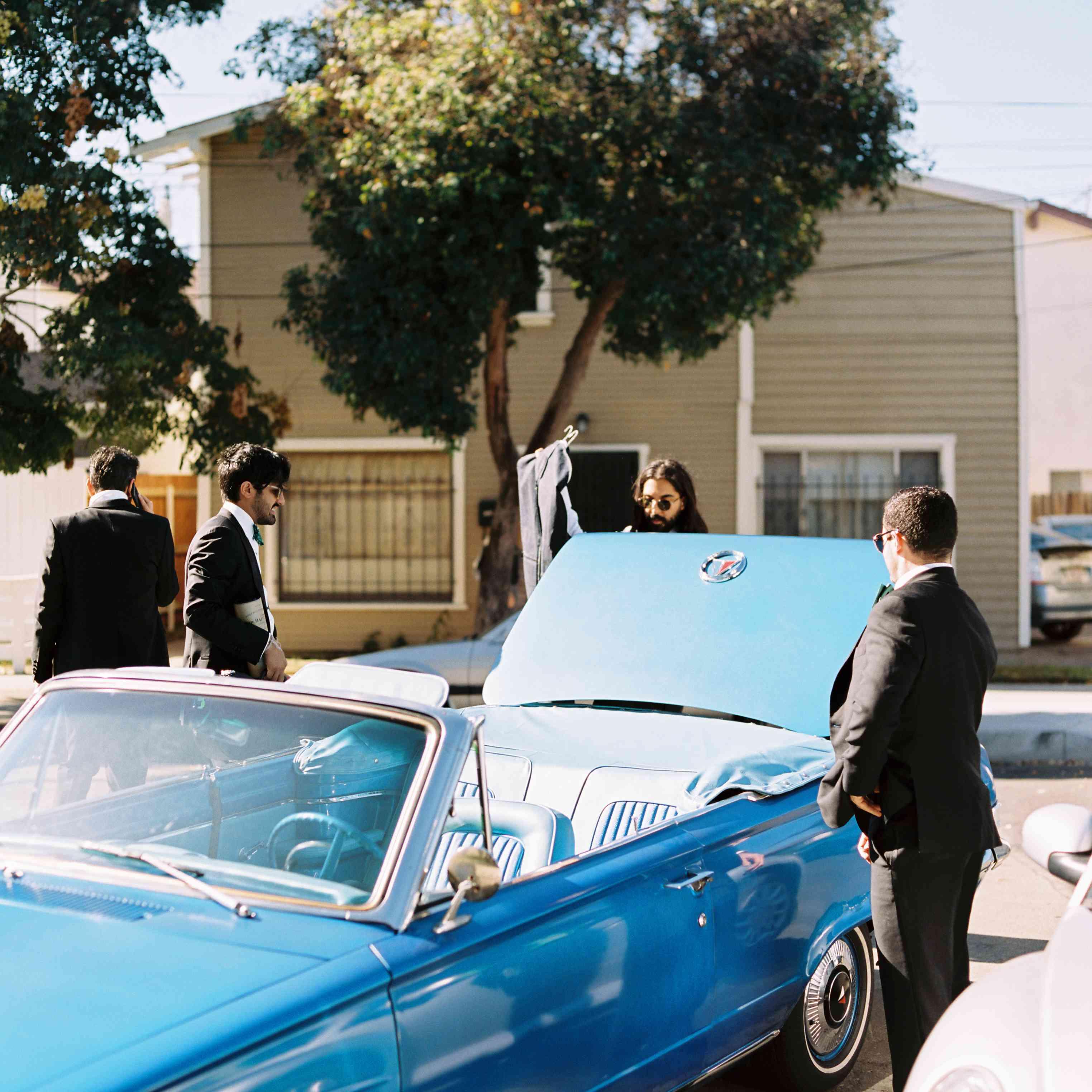 groomsman car convertible