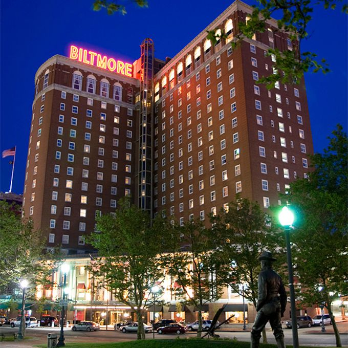This landmark hotel in the heart of downtown Providence certainly has a spooky past. Built in 1922, it was a popular spot during the prohibition era, and later the possible inspiration for Robert Bloch's Bates Motel. According to the investigators who have visited the hotel, one of the most-seen ghosts is a financier who threw himself out his 14th story window after losing his money in 1929; guests on the floor report seeing a body fall past their window, but never find a body on the ground. And a former event planner for the hotel reported seeing ghosts (perhaps the flappers of yesteryear?) dancing in the empty ballroom