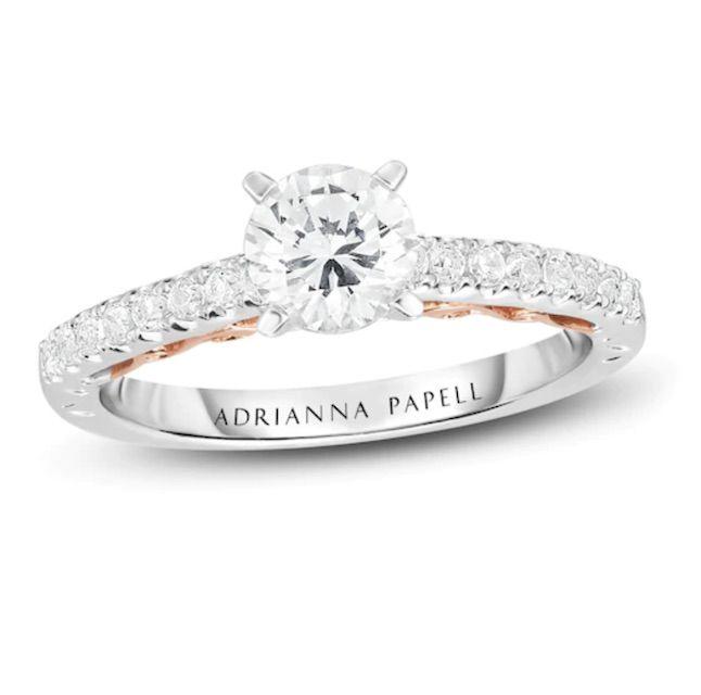Kay Adrianna Papell Diamond Engagement Ring