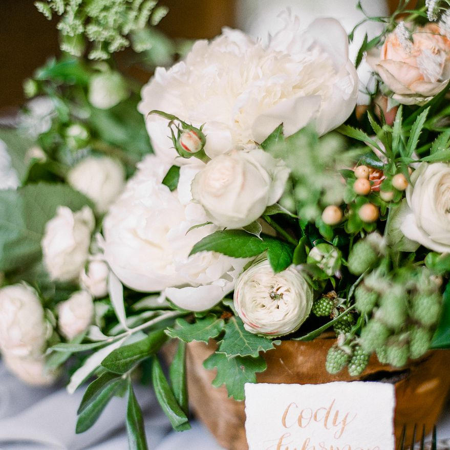 <p>place cards and centerpieces</p><br><br>