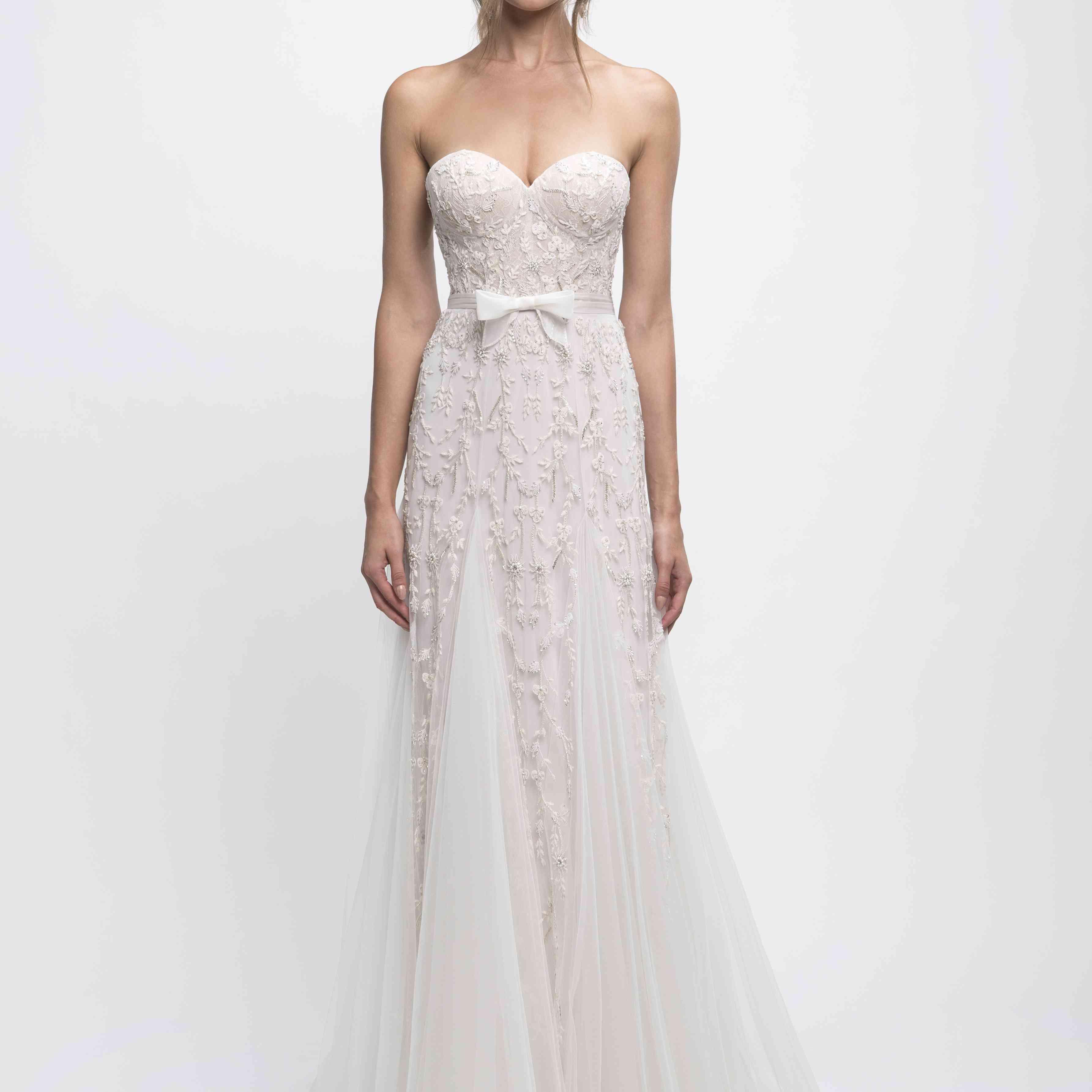 Michelle strapless wedding dress