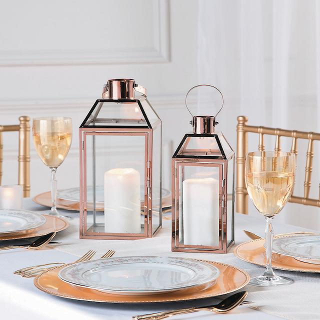 Copper Lantern set of 2