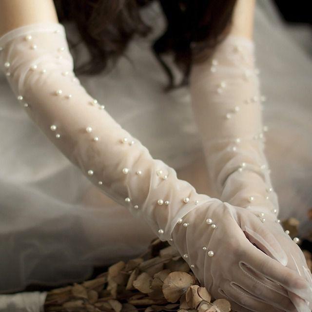 Teraskorotoolanp Pearlie Sheet Tulle Gloves