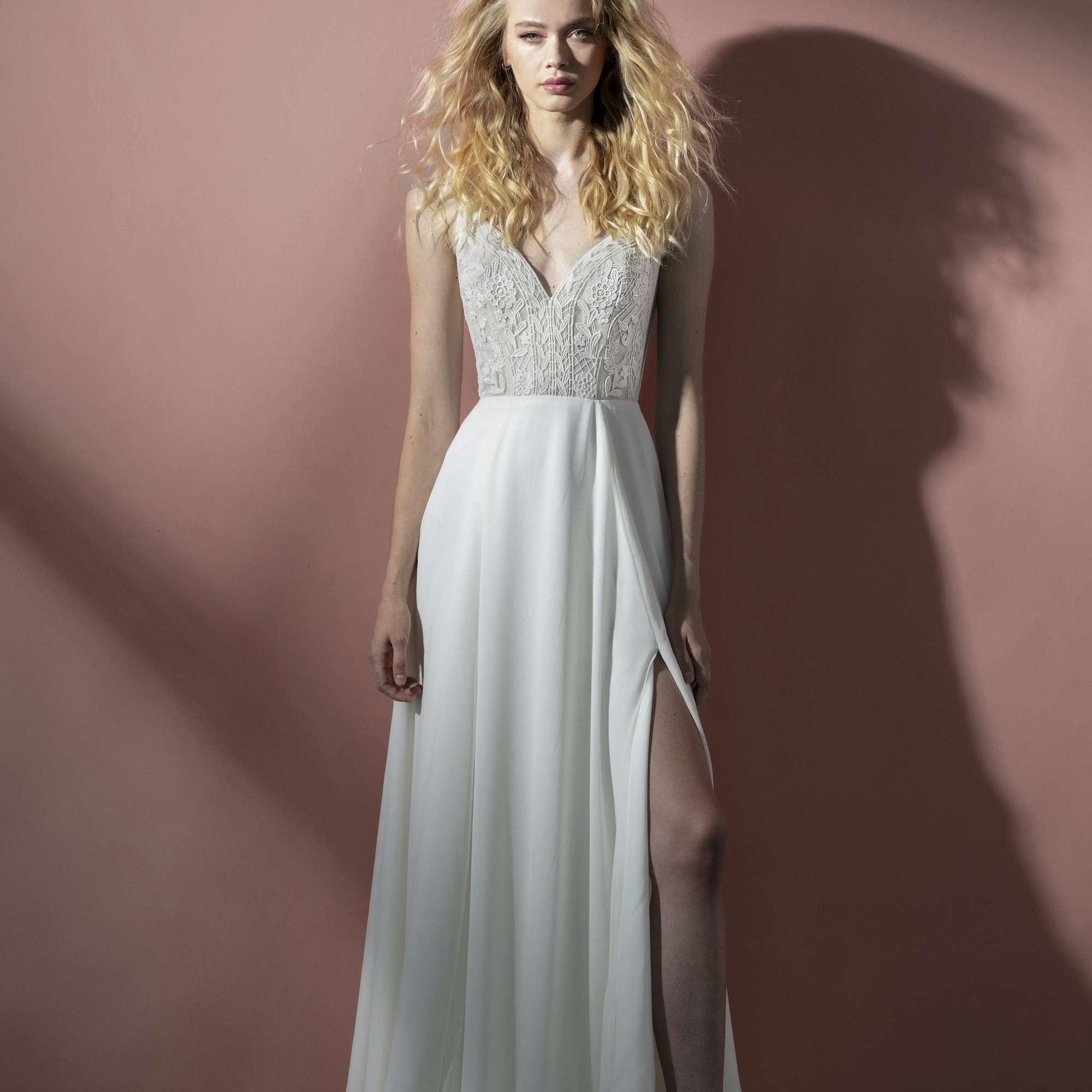 Camden V-cut wedding dress