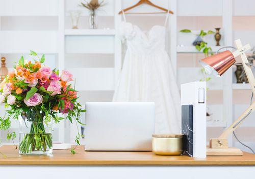 Wedding planning setup
