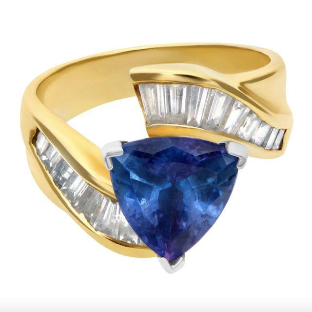 1stDibs African Tanzanite and Diamond Ring