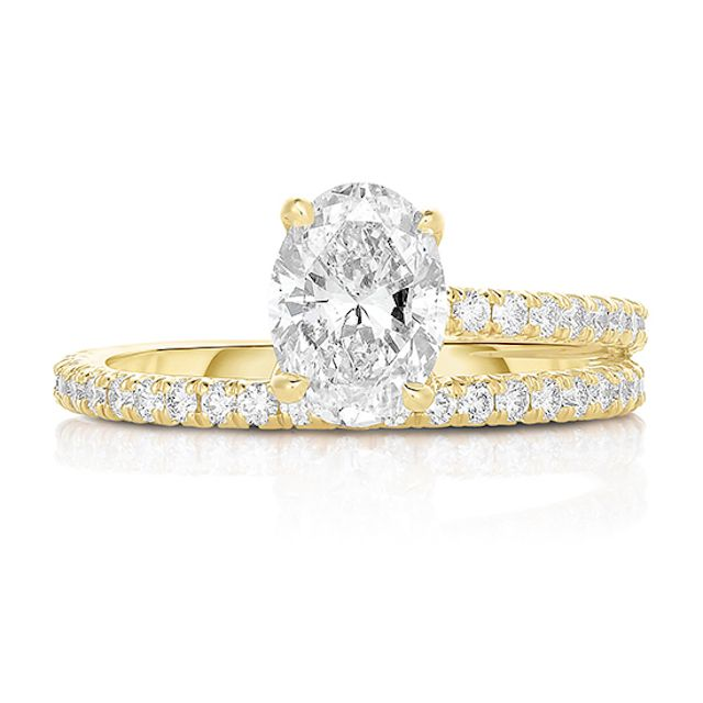 Marissa Perry The Double Love Diamond Solitaire