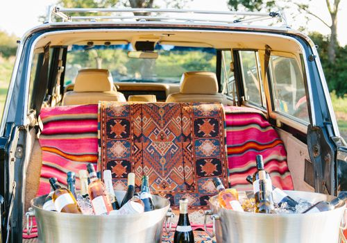 wine on car
