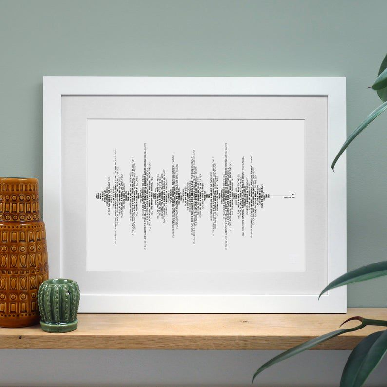 Soundwave Print with Typography