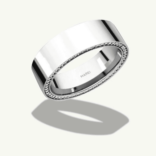 Wedding Band 7 MM,Textured Band Sterling Silver Band,Band 7 MM,Trendy Silver Silver  Jewelry,Family Gift,Gold Gift