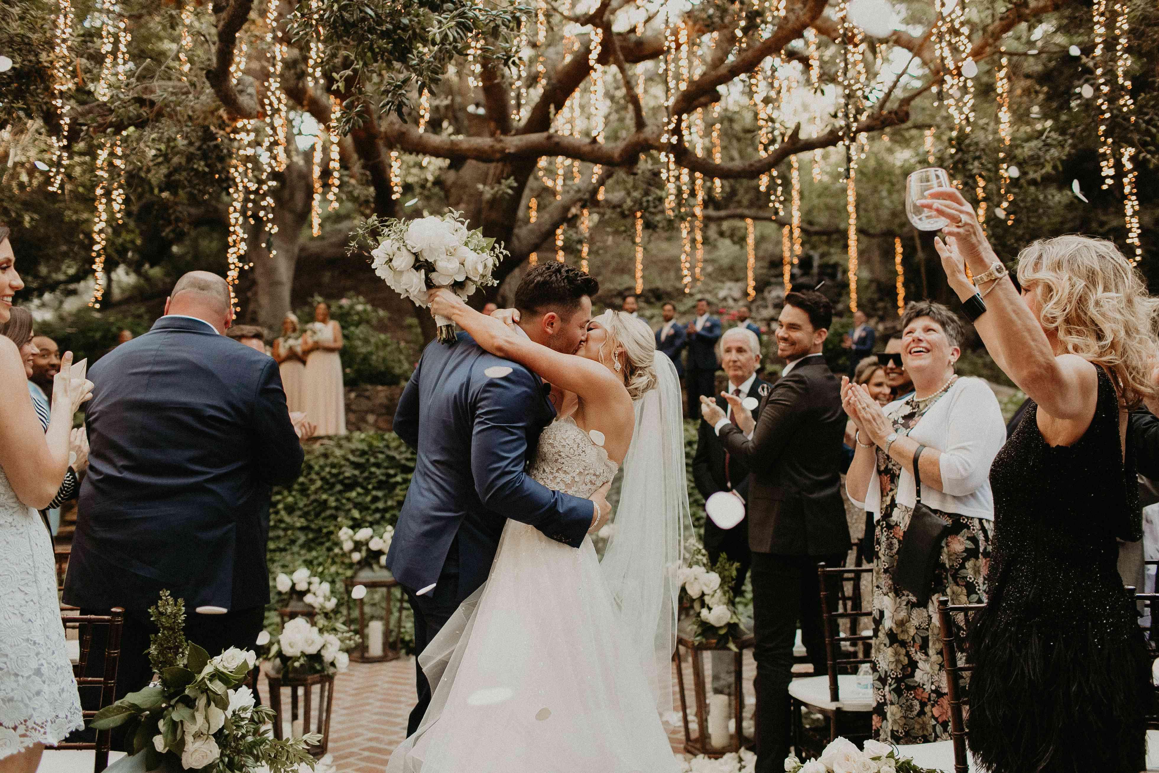 huge discount 023c5 dad33 Baker Mayfield and Emily Wilkinson's Romantic California Wedding