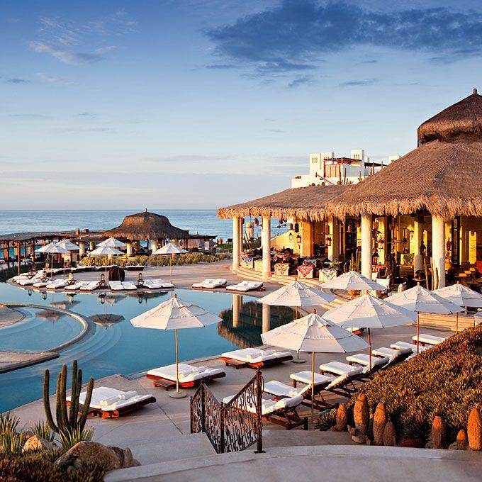 A view of the pool at Las Ventanas al Paraíso in Mexico.