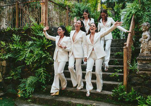 <p>bridal party entrance</p>