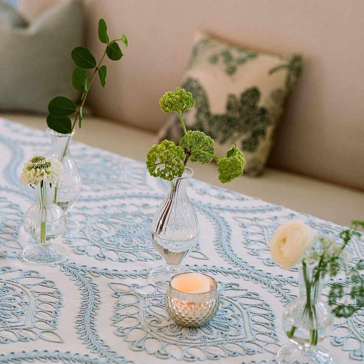 DIY floral wedding centerpieces