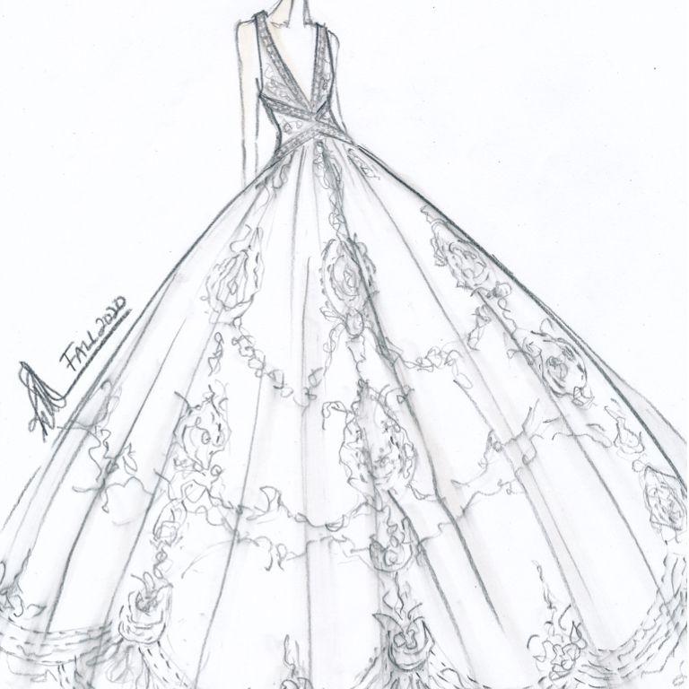 Rivini by Rita Vinieris Bridal Fashion Week Fall 2020 Sketch