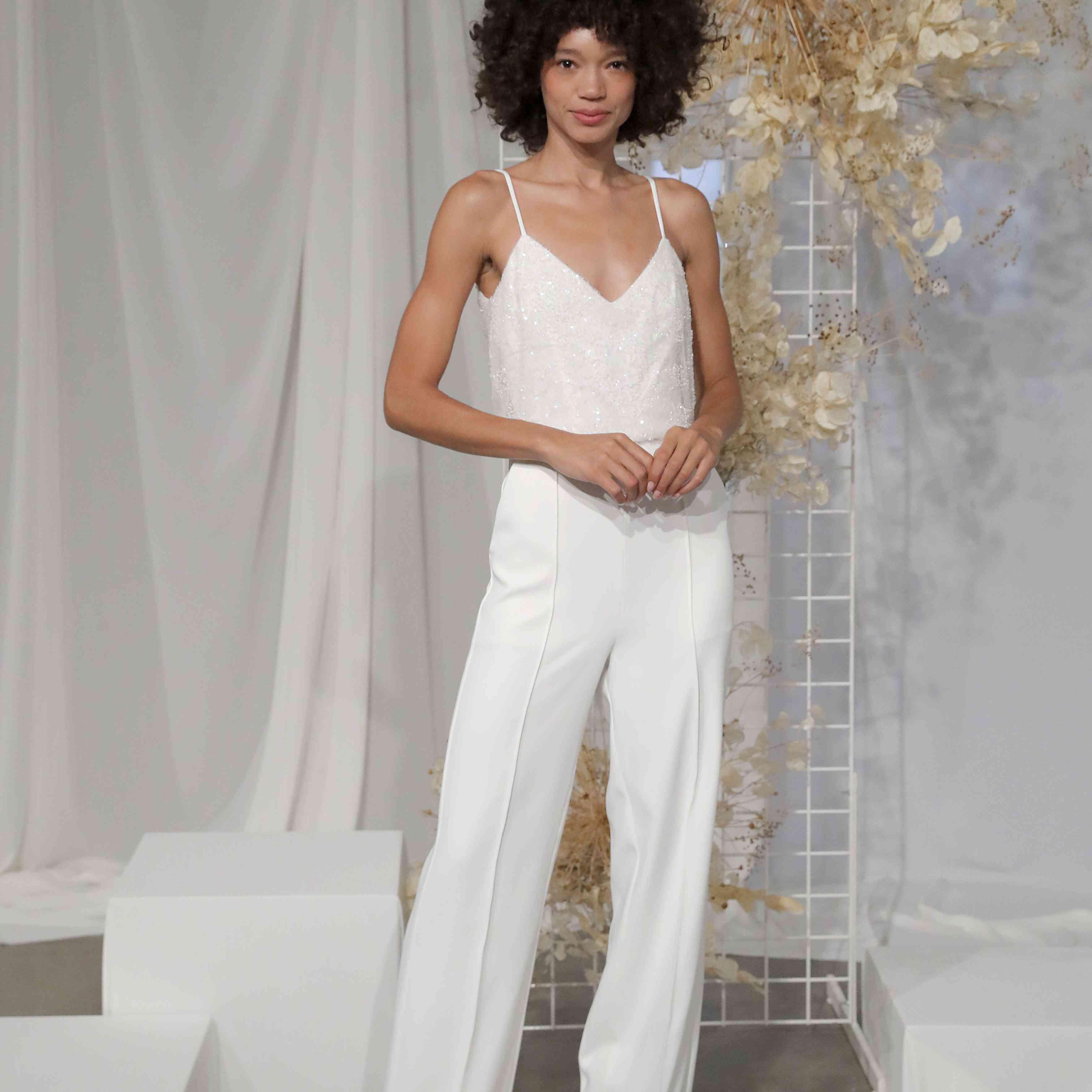 bridal top and pants