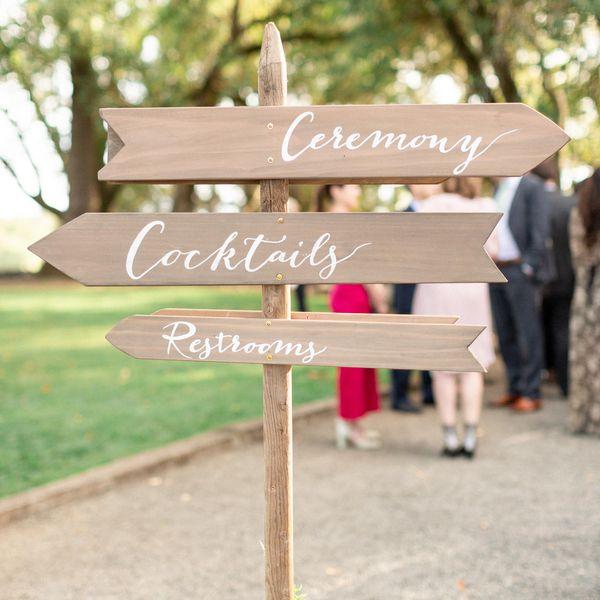 Wedding location signage