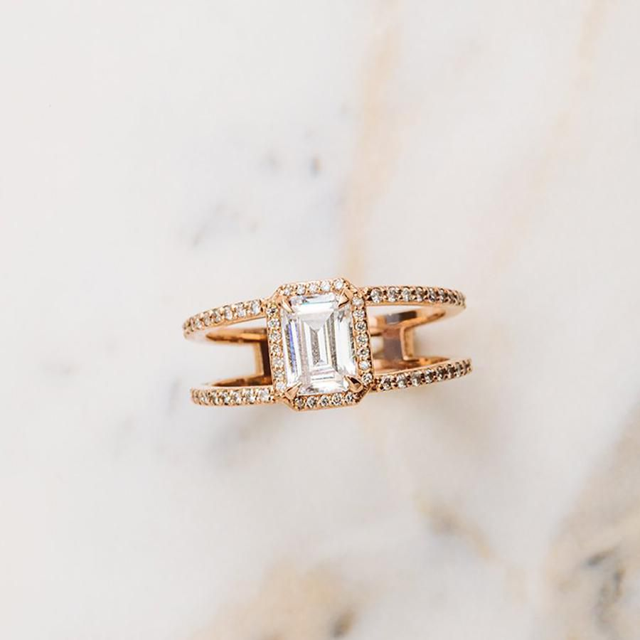 28 Double Band Engagement Rings
