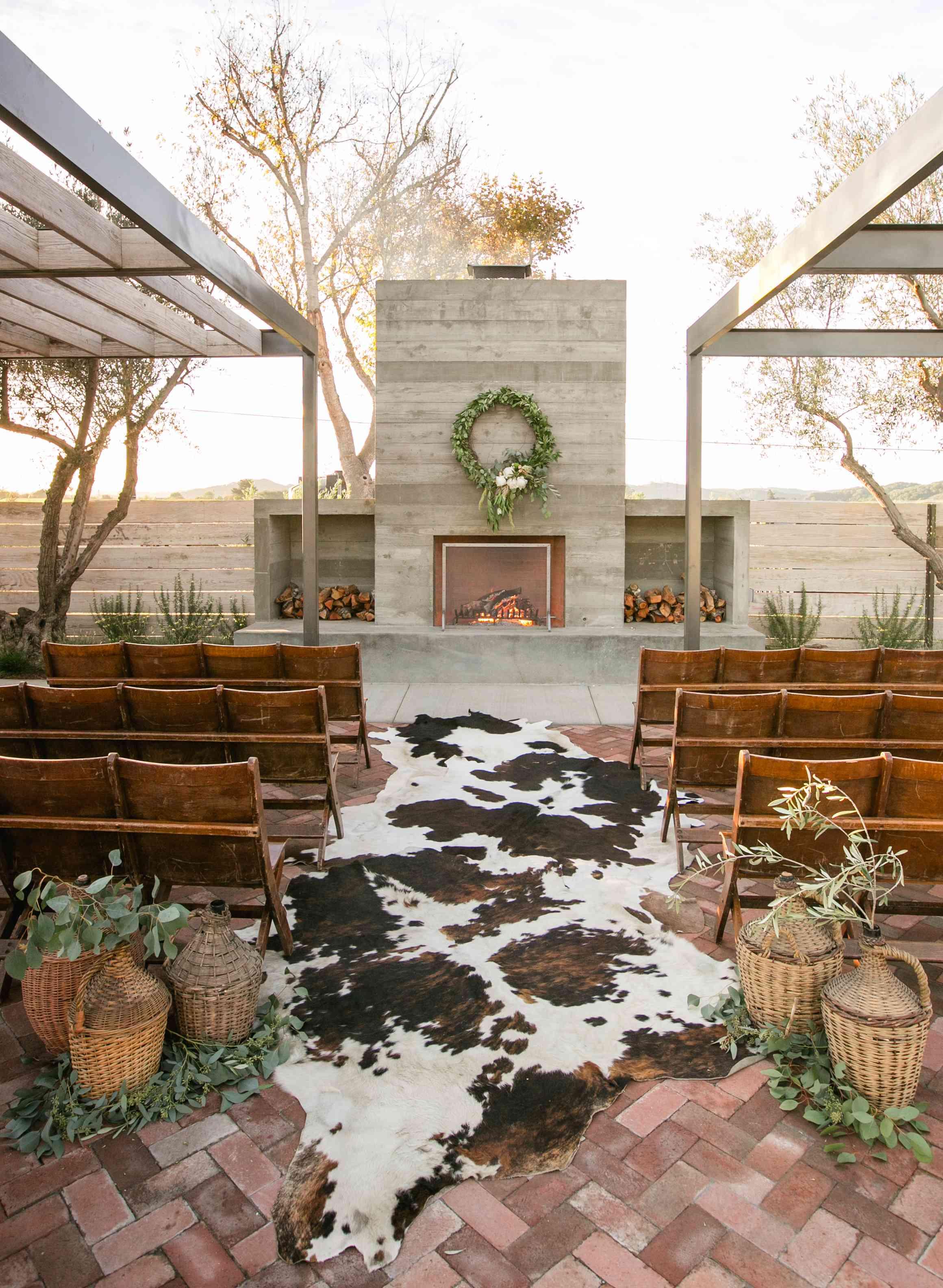 Modern ranch wedding ceremony