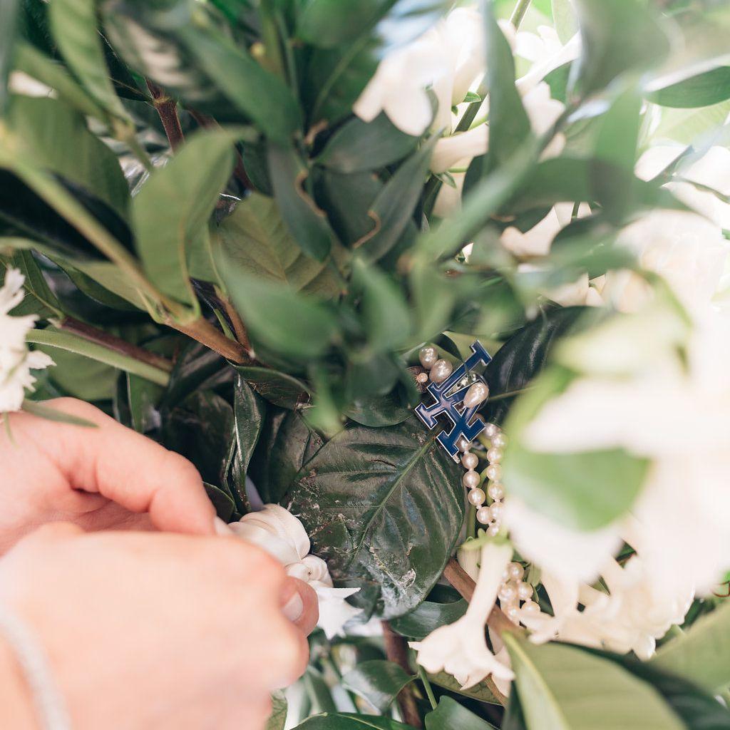 Bridal bouquet closeup
