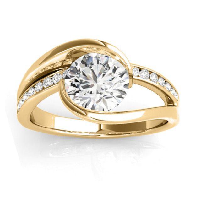 Allurez Diamond Tension Set Engagement Ring