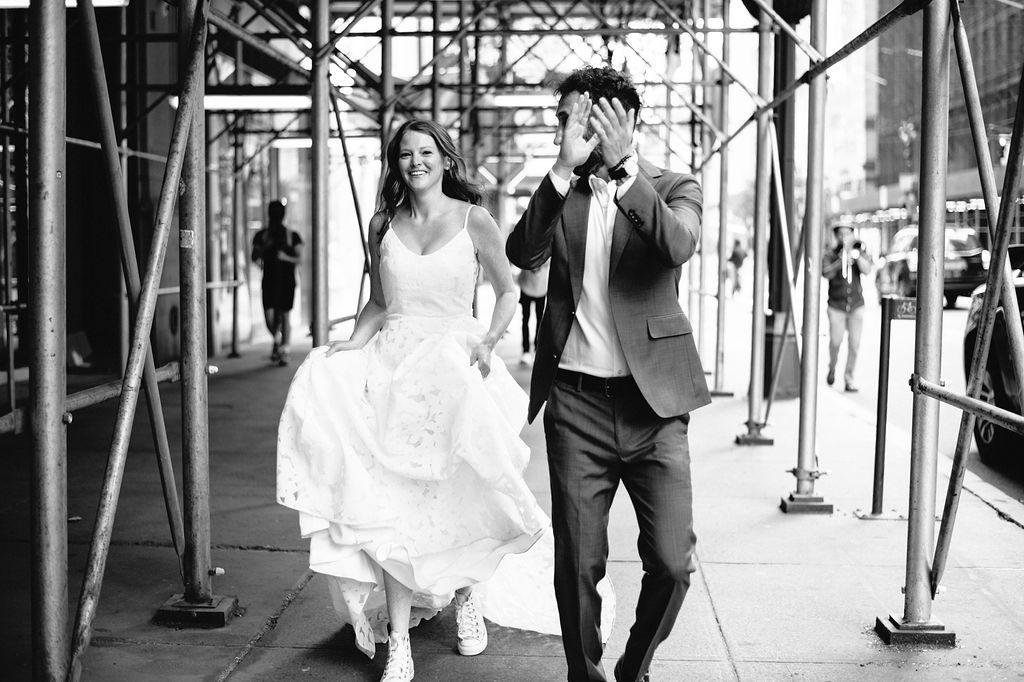 couple walking on street