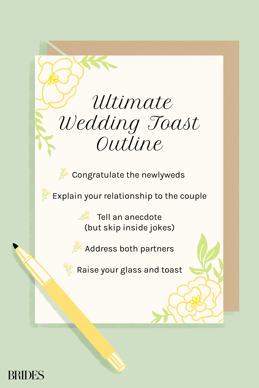 wedding toast outline