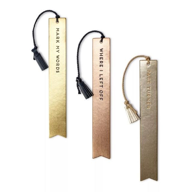 Dabney Lee Faux Leather Tassel Bookmarks