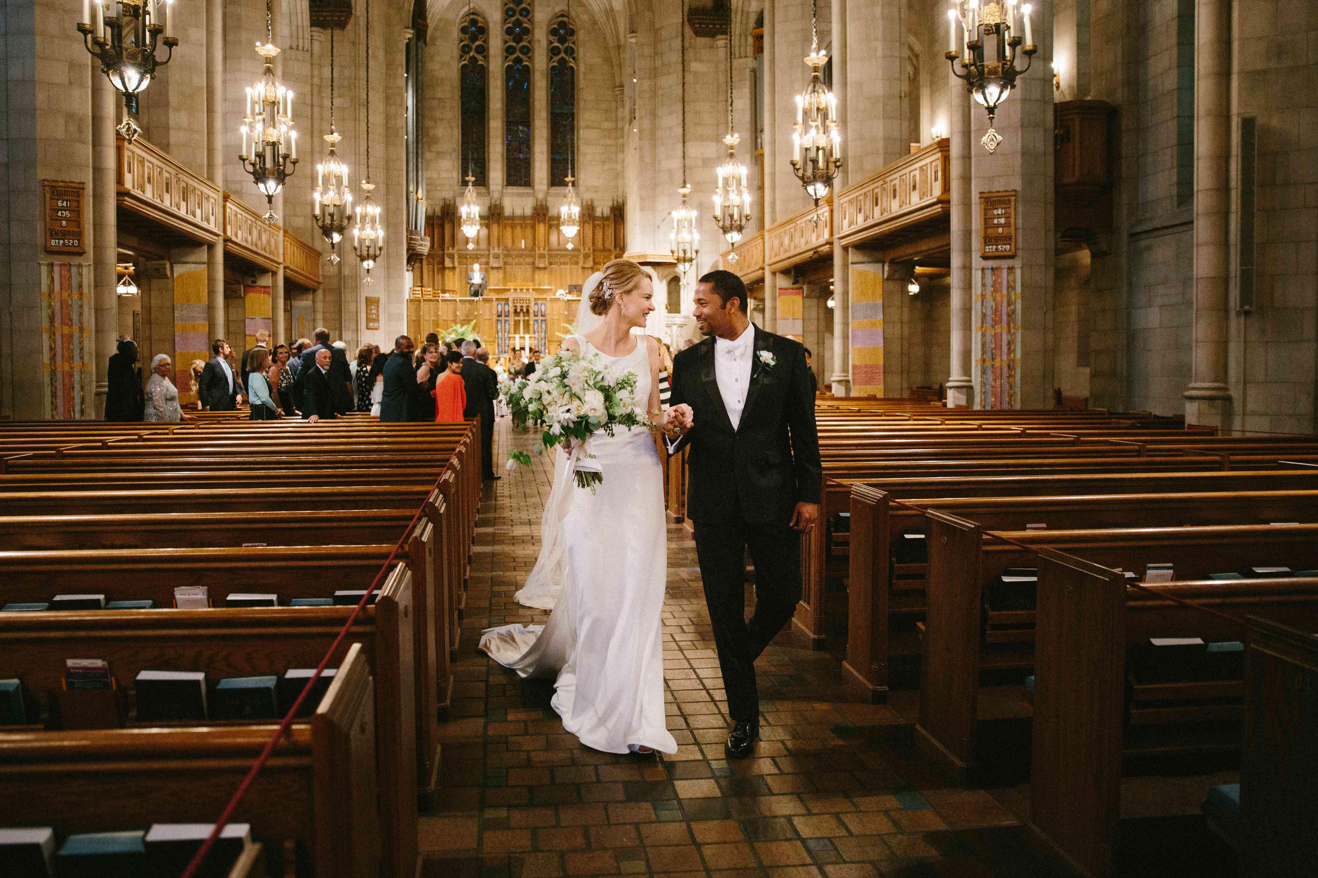 Post-Ceremony Newlyweds