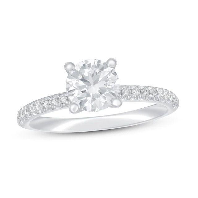 Jared Lab-Created Diamond Engagement Ring 1 1/8 ct tw Round 14k White Gold