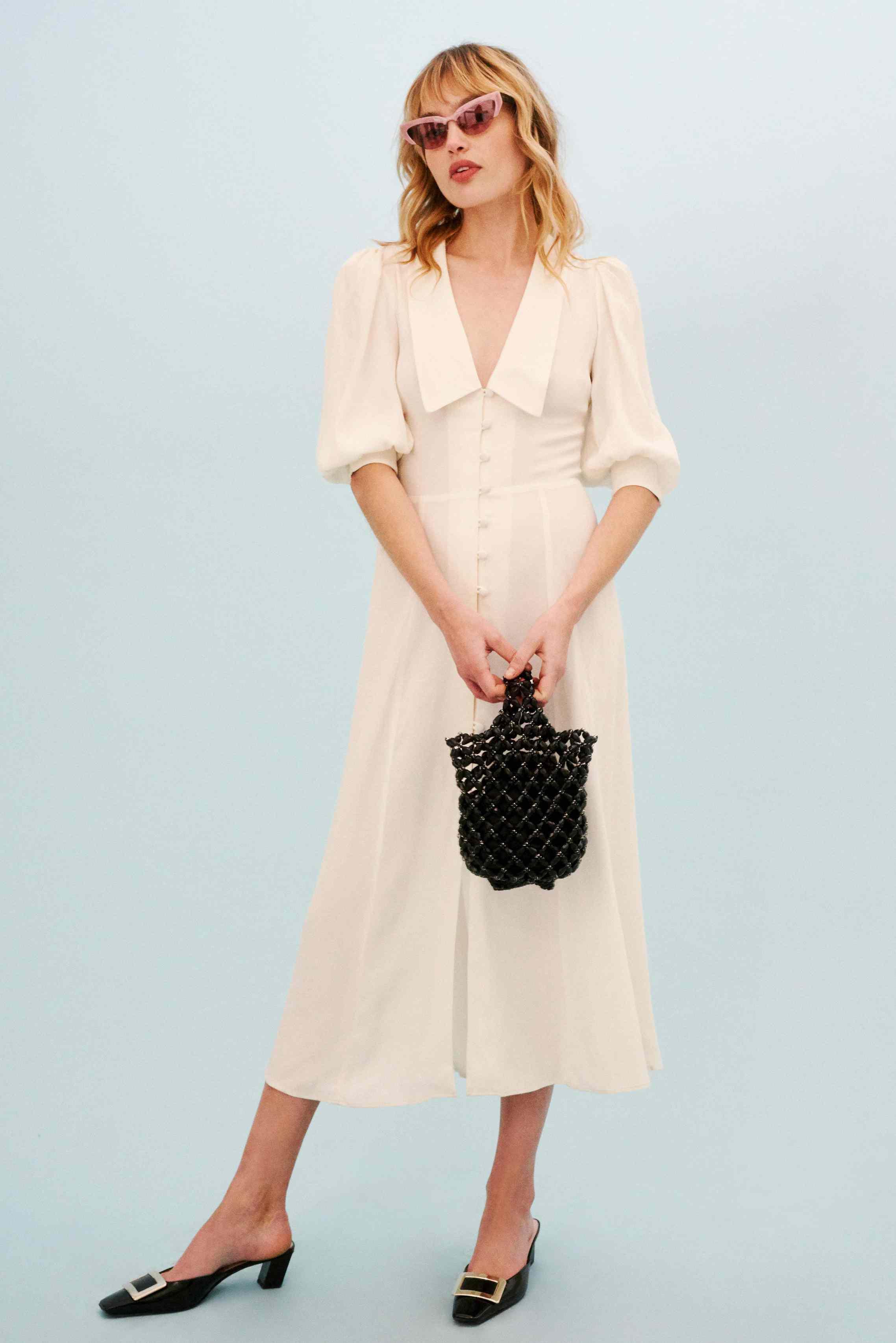 Collard Neckline Dress