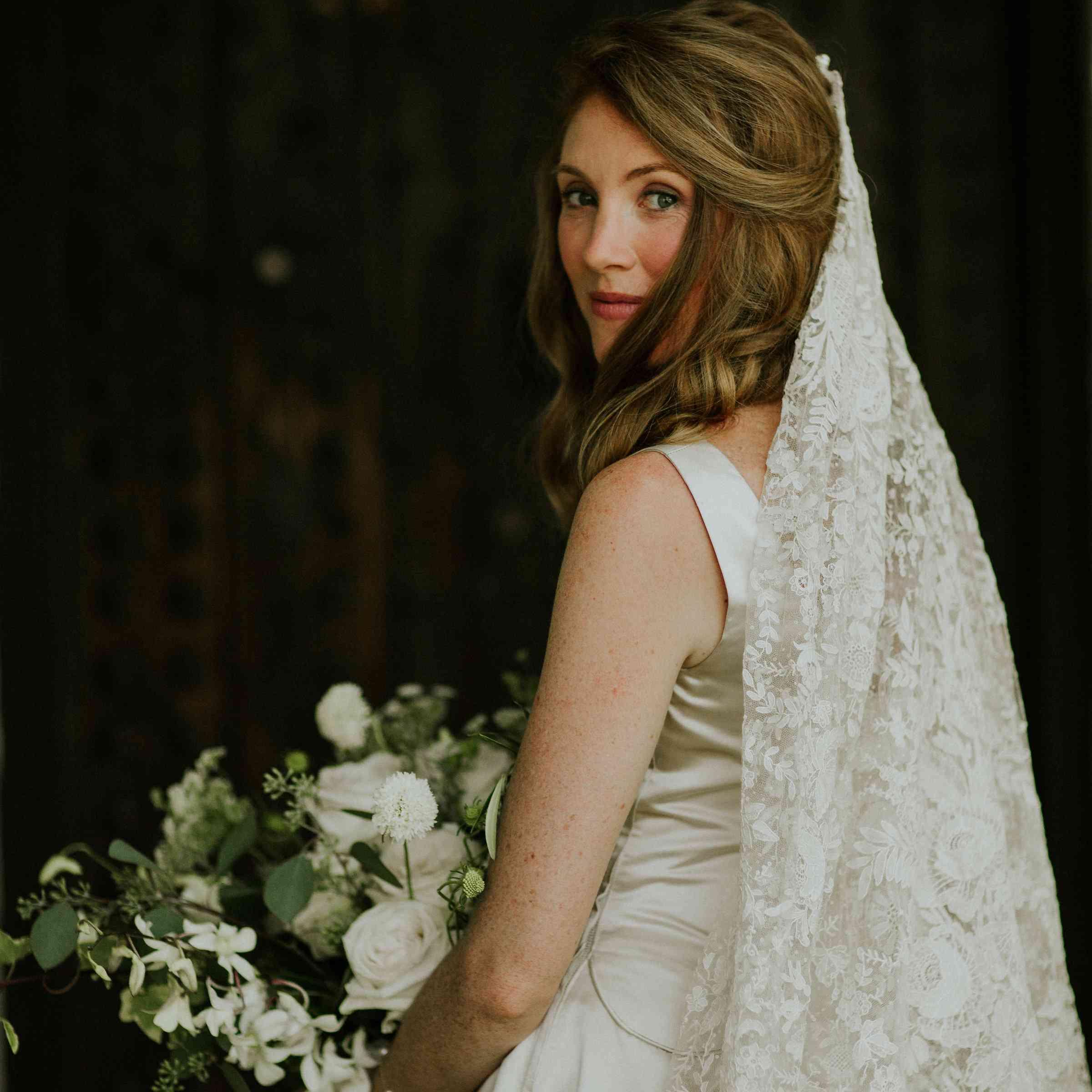 Bride in Vintage Dress