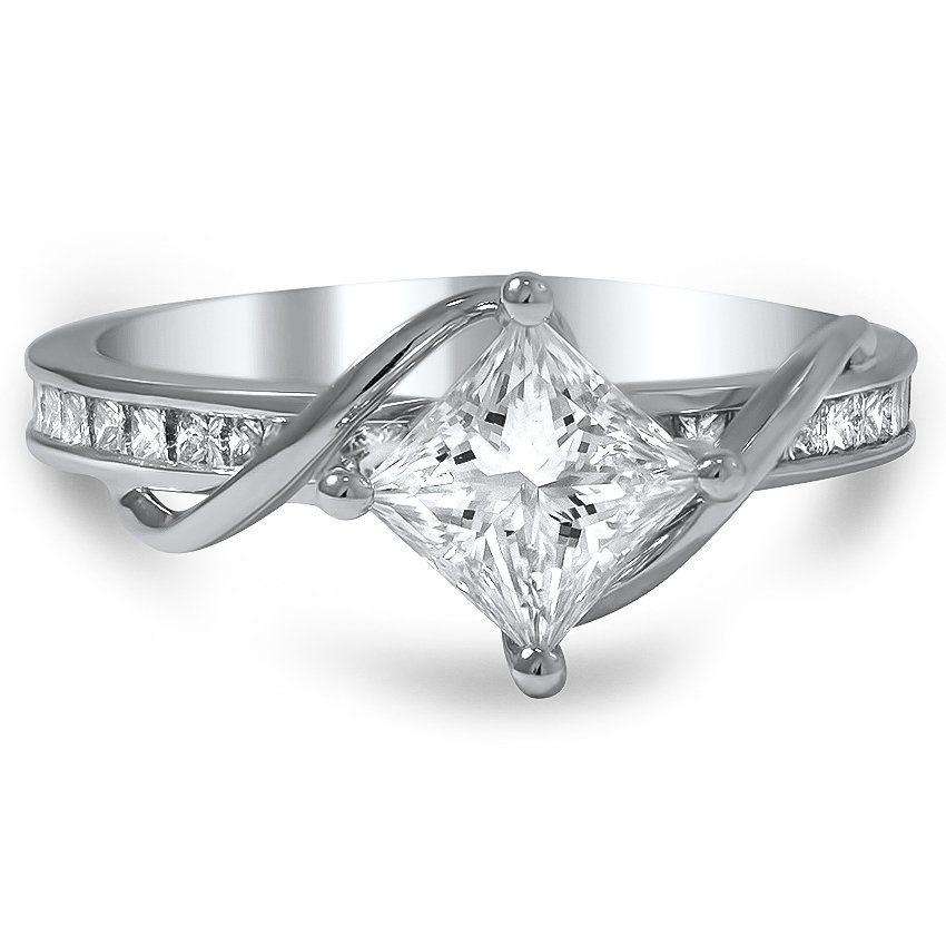 Brilliant Earth Custom Compass Point Princess Ring