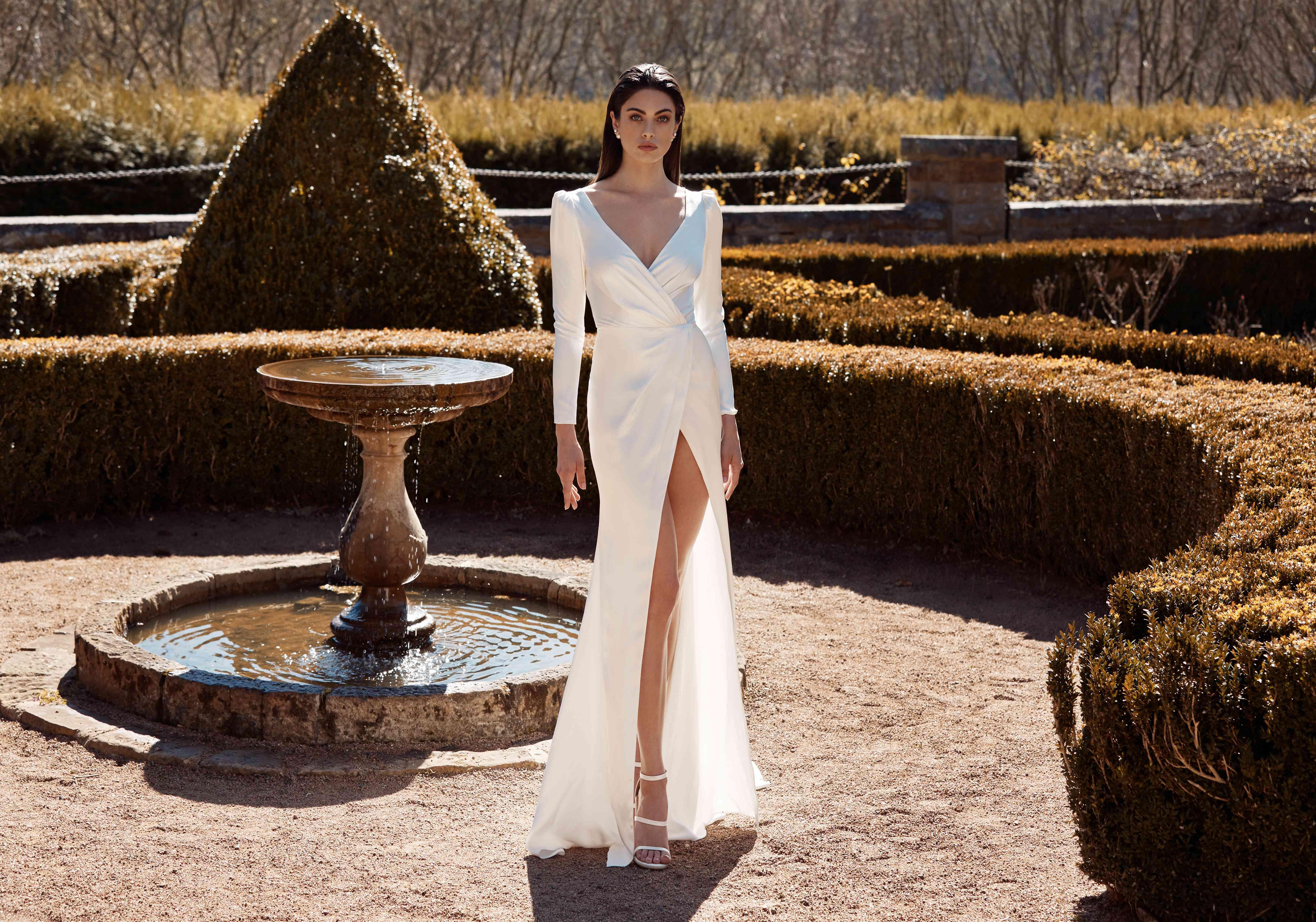Marcelle wraparound wedding dress
