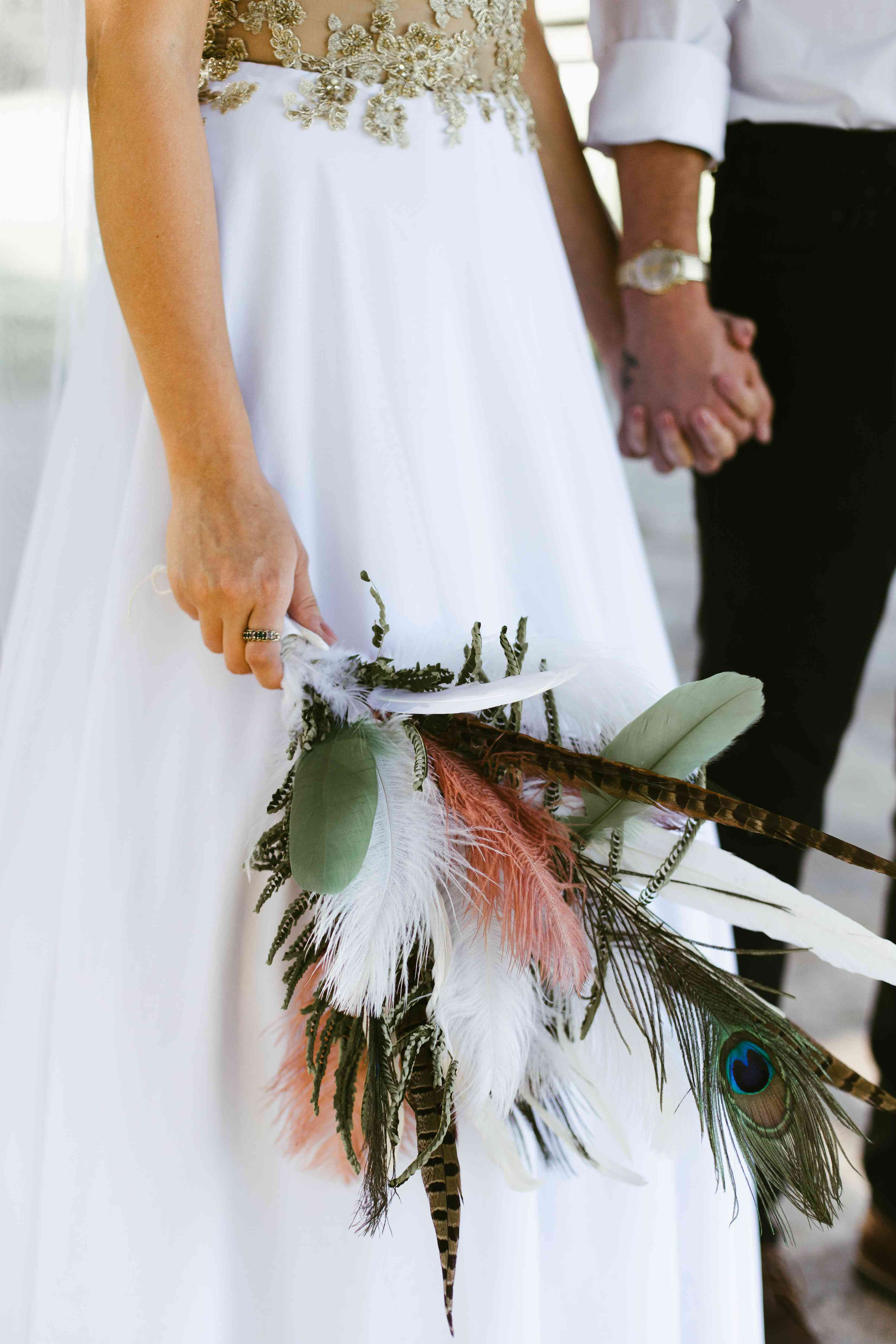 bouquet of feathers