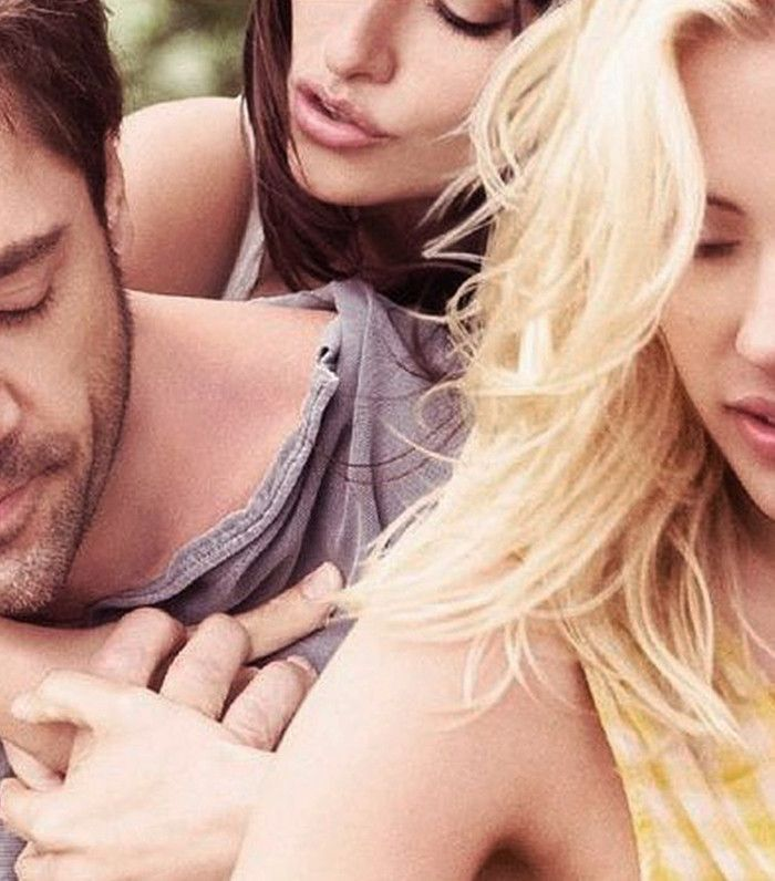 Javier Barden with Scarlett Johansson and Penelope Cruz in Vicky Cristina Barcelona