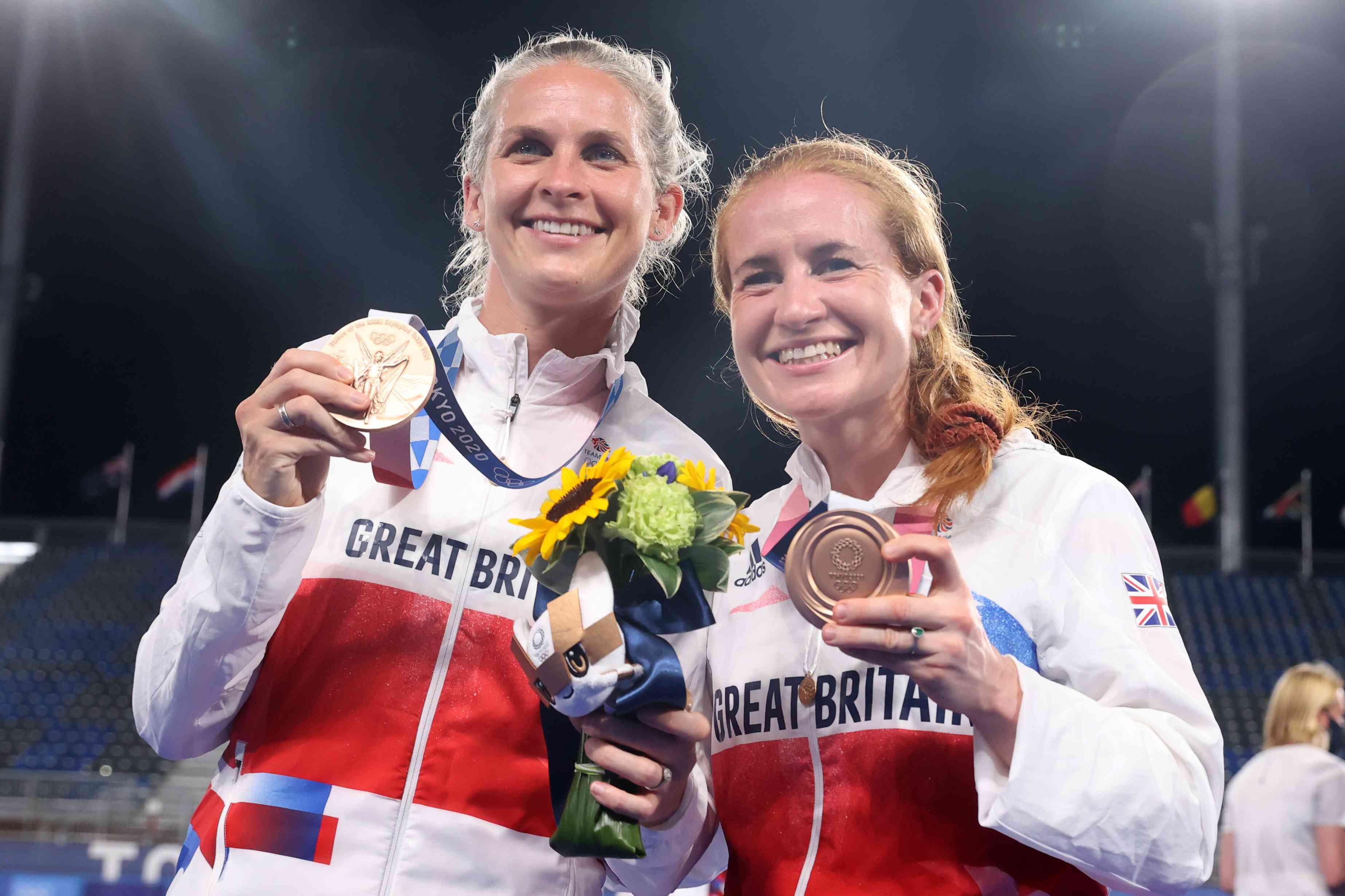 Sarah Jones and Leah Wilkinson