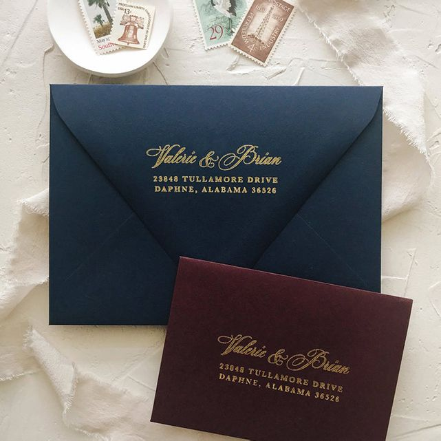 BettyLuPaperie Custom Wedding Address Stamp