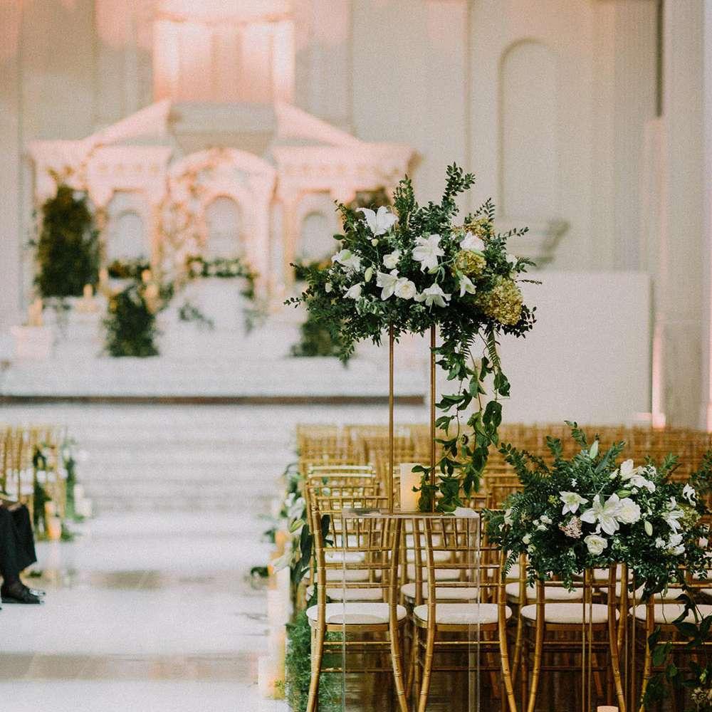 Minimalist Church Wedding Decor