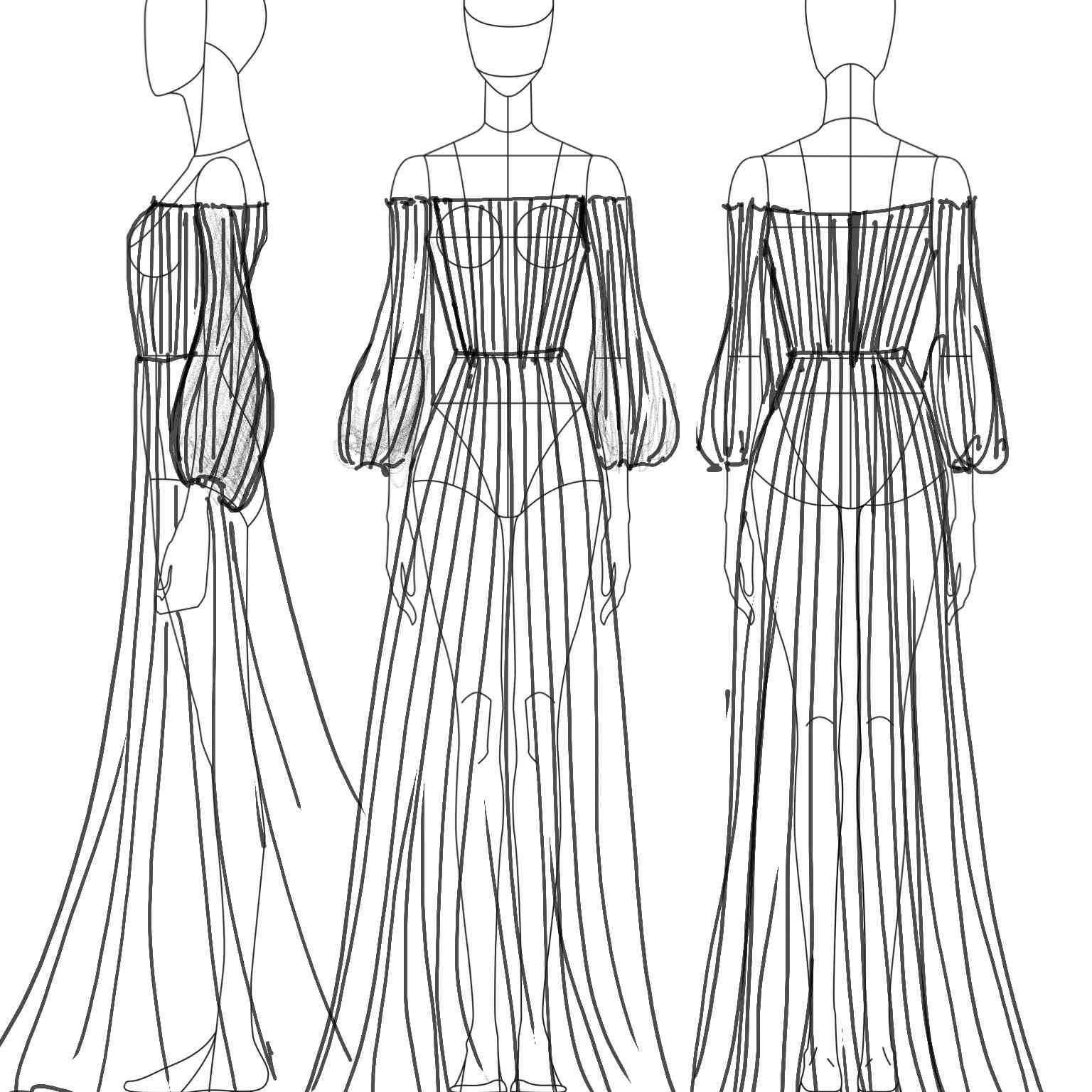 Sophie et Voila Bridal Fashion Week Fall 2020 Sketch