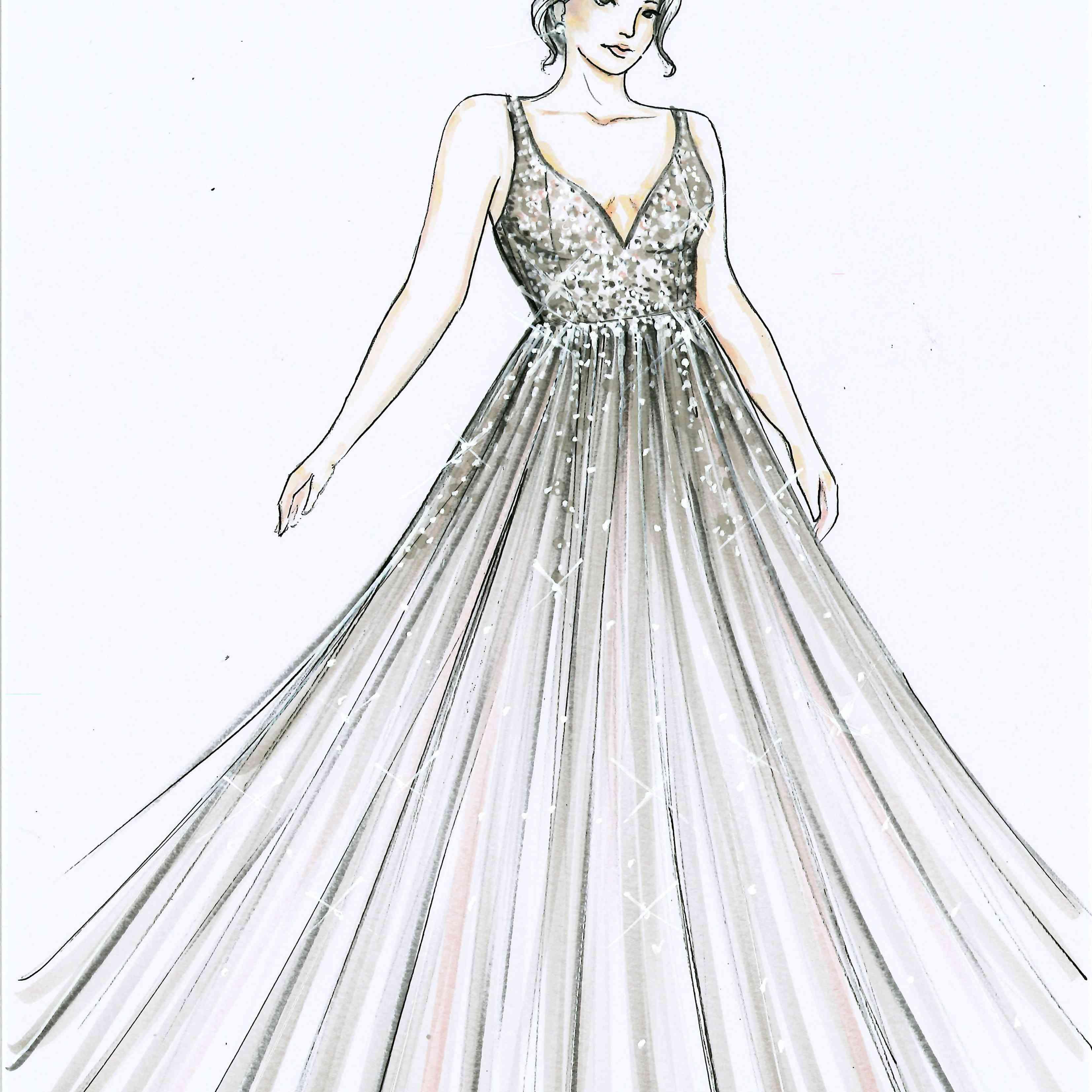 Galina Signature Bridal Fashion Week Fall 2020 Sketch